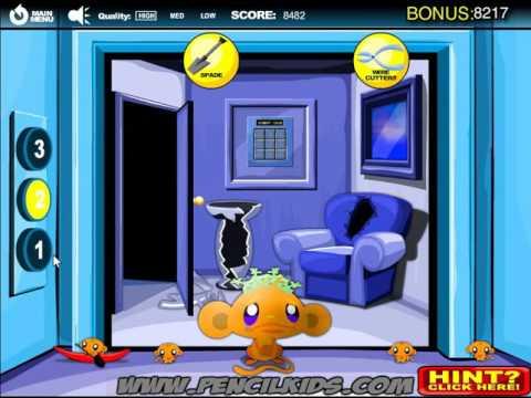 Мультик игра Счастливая обезьянка: Лифт 2 (Monkey GO Happy Elevators 2)