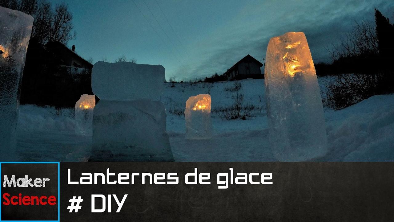#DIY Luminaires de glace