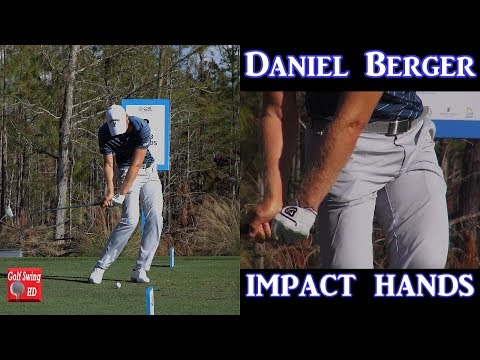 DANIEL BERGER SLOW MOTION HANDS THRU IMPACT IRON GOLF SWING 1080 HD