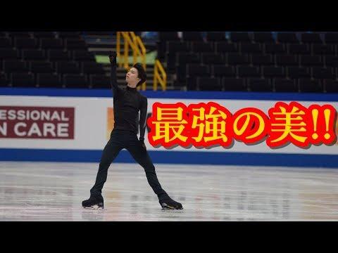 羽生結弦が世界選手権の公式練習に登場!!王者の黒い子という最強の美を世界中が待っていた!!#yuzuruhanyu