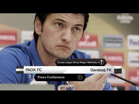 Η συνέντευξη Τύπου του ΠΑΟΚ-Qarabağ FK - PAOK TV