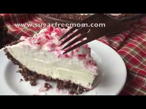 No Bake Sugar Free Peppermint Cheesecake Pie