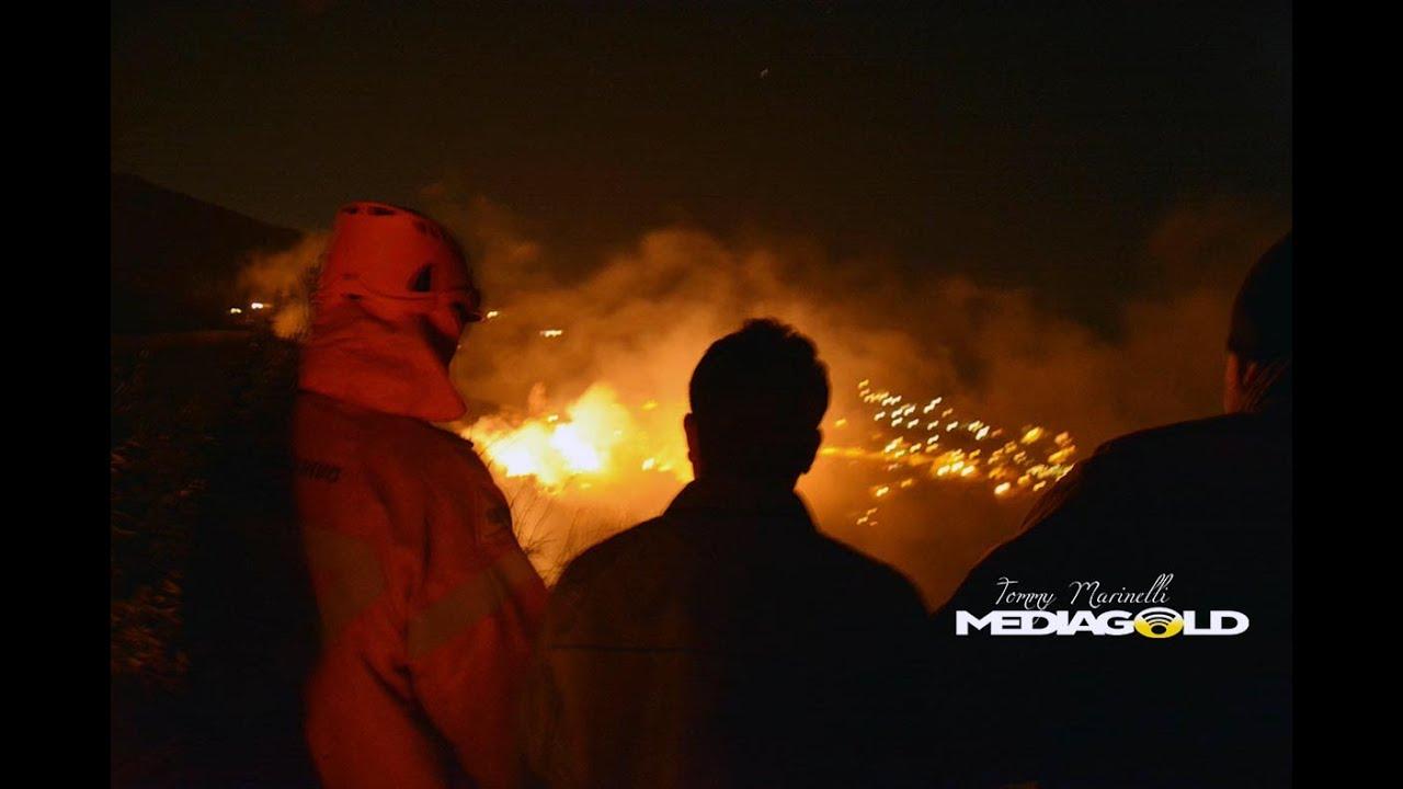 Reportage dell'incendio sulle alture di Alassio: video #1