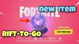 Fortnite Update RIFT-TO-GO New Item, Patch Note 5.3