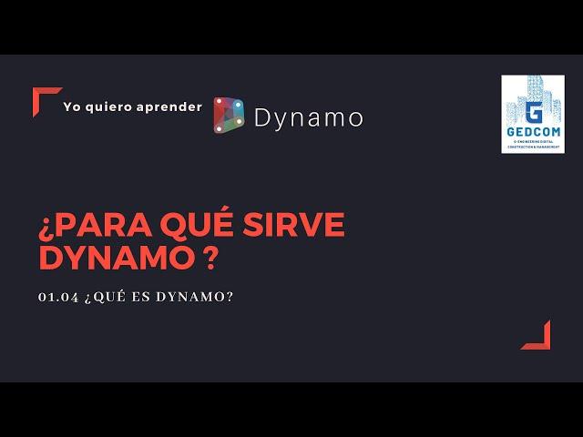 Introducción a Dynamo | 01-04-¿Para que sirve Dynamo?