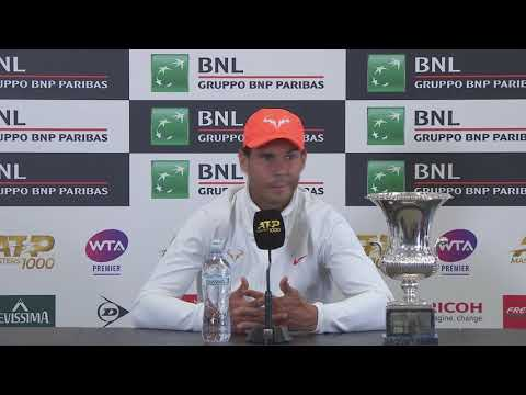 Rafael Nadal Press conference after his victory at Rome Masters 2019