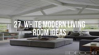 🔴 27  WHITE MODERN LIVING ROOM Ideas
