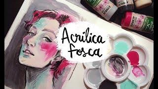 Testando a ACRÍLICA FOSCA da Acrilex