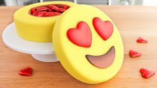torta de emoji para san valentin caja de bombones 😍 tan dulce