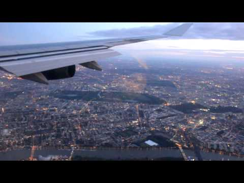 Landing at London Heathrow Airport (Sunrise)