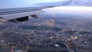 Скачать Landing At London Heathrow Airport Sunrise
