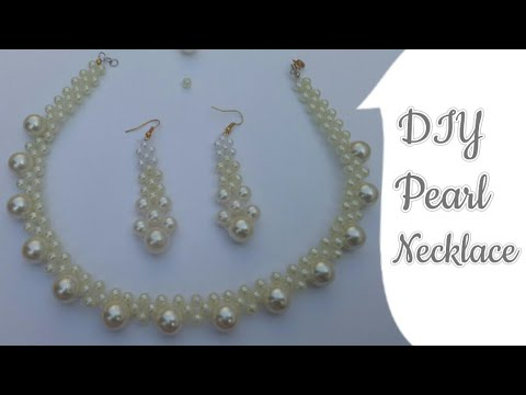 Pearl Necklace How to make Necklace with Pearl Choker Necklace Pearl beads Necklace Wedding Necklace