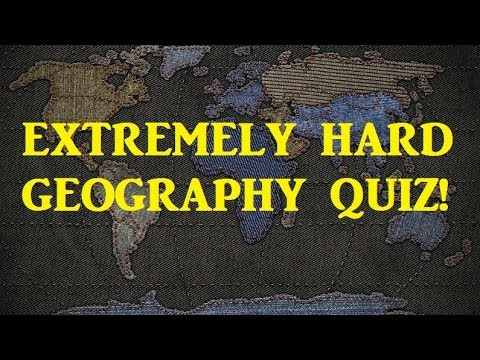 GEOGRAPHY General Knowledge QUIZ! - Very Hard Test! - YouTube