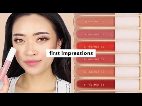 EM Cosmetics True Gloss First Impressions And Lip Swatches