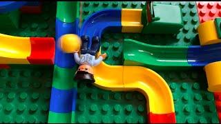 Kugelbahn mit Hubelino und Lego Duplo / Marble run with Hubelino and Lego Duplo
