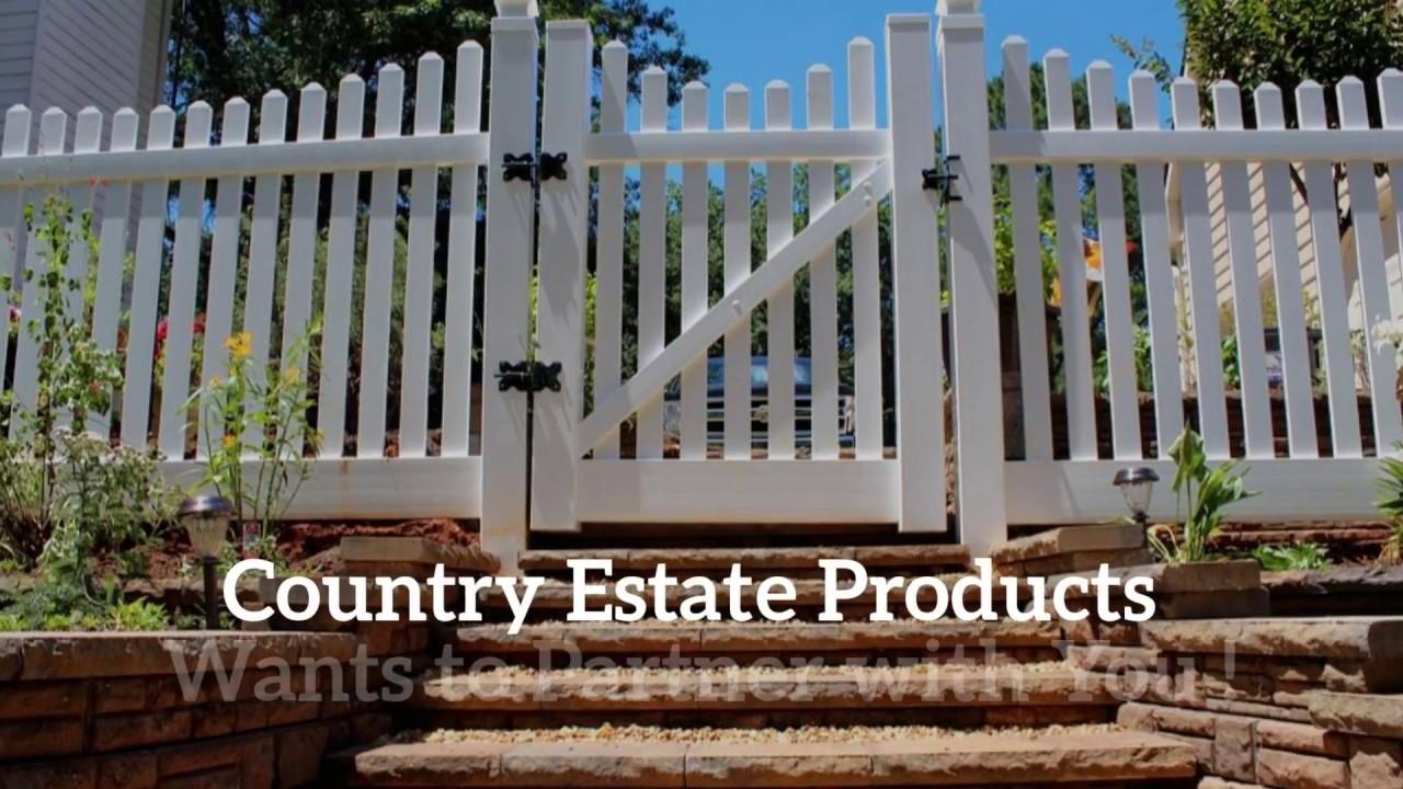 Wholesale vinyl fencing marietta ga country estate fence youtube wholesale vinyl fencing marietta ga country estate fence baanklon Gallery