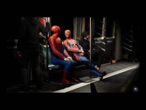 Marvel's Spider-Man funny two spider mans lol