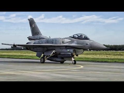 United States & Polish F-16 Fighting Falcons Takeoff