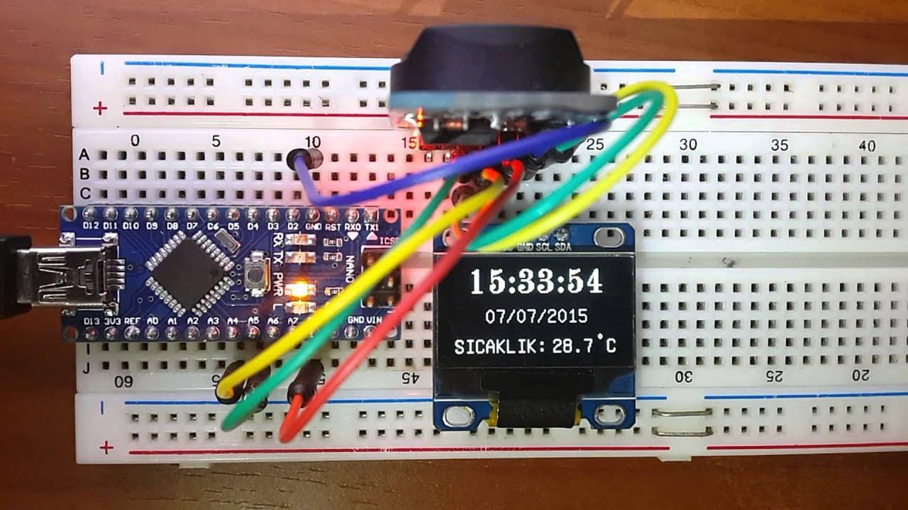 Arduino ~ DS3231 OLED Clock by Veli Utas