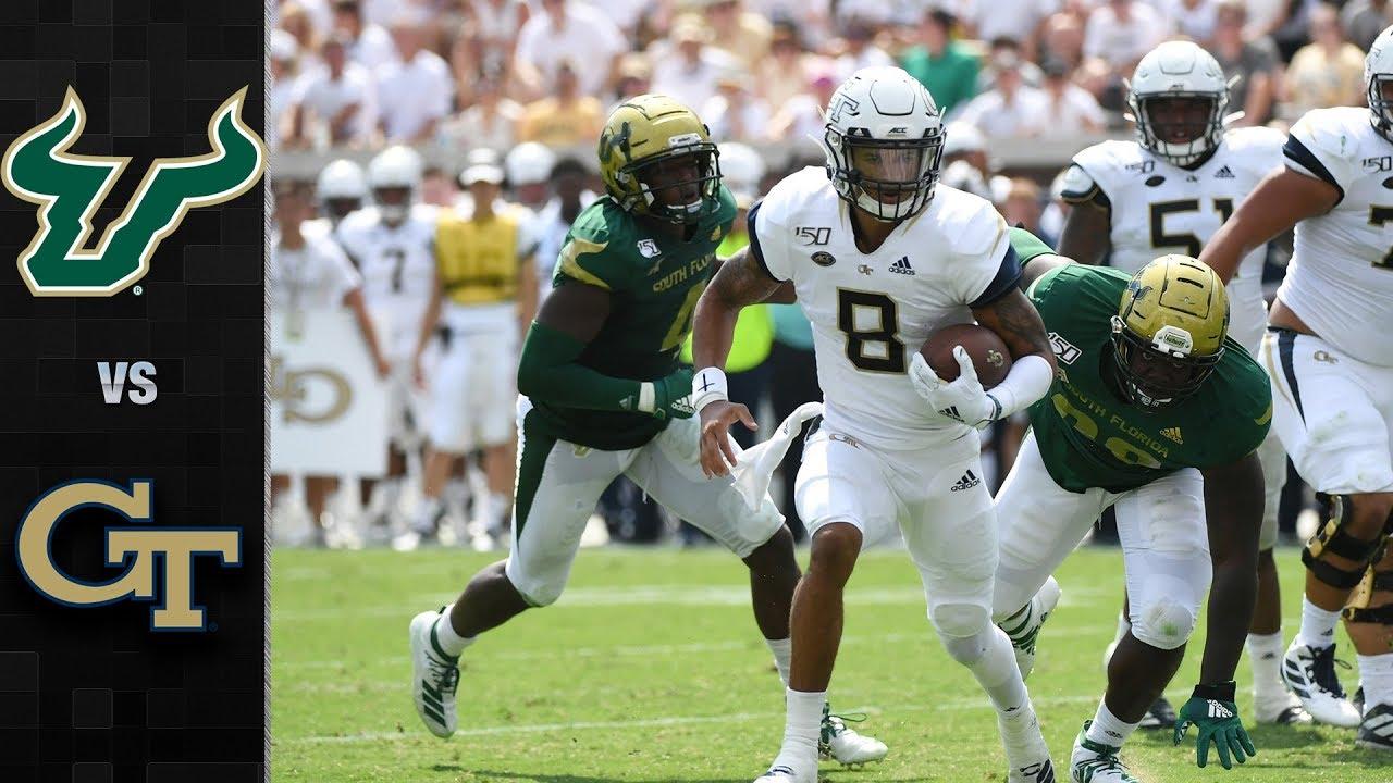 South Florida vs  Georgia Tech Football Highlights (2019)