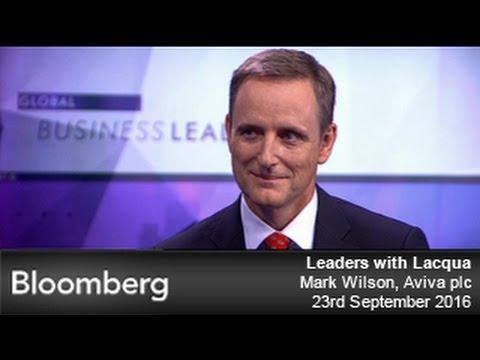Aviva CEO Mark Wilson speaks to Bloomberg's Leaders with Lacqua