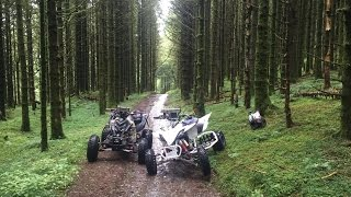 Wales - Rain - Forest Trails - Road Legal Yamaha YFZ 450R Race Quad Bikes 2016