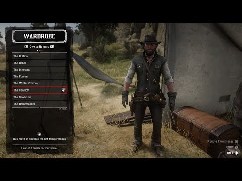 Red Dead Redemption 2 Johns Outfit Gameplay Youtube