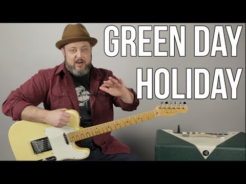 Green Day - Holiday  - Guitar Lesson (With Solo)