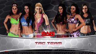 WWE 2K18 - The Bella Twins and Natalya VS The IIconics and AJ Lee