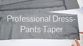 How to Taper Dręss Pants + Blind Stitch Hem (makes you look like a CEO!)
