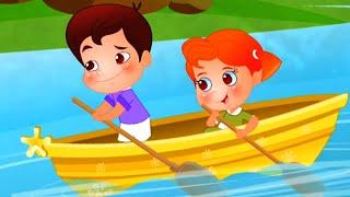 ряд ряд ряд гребля ваша лодка | детские стишки для детей | Row Row Row Row Your Boat