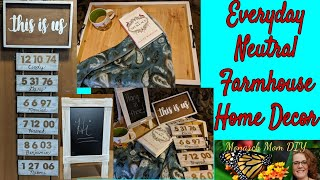 DIY DOLLAR TREE #dollartreediy #dollartreedecor NEUTRAL FARMHOUSE HOME DECOR #chalkboardeasel