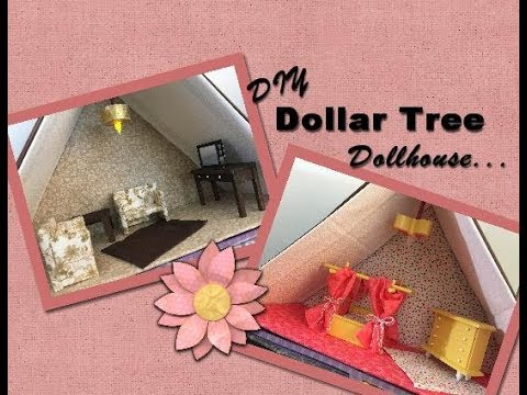 DIY Dollar Tree Wood Doll House Furniture Part 6