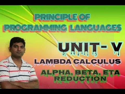 PPL Lecture 17: Lambda calculus Alpha, Beta ,Eta Reduction with example in hindi by vishwakarma ji