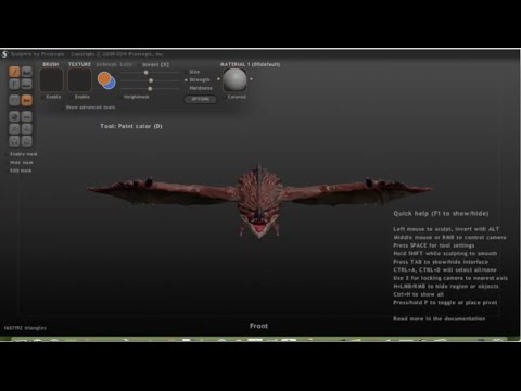 リオレウス作ってみた[Sculptris] Monster Rathalos Hunter  [3DCG