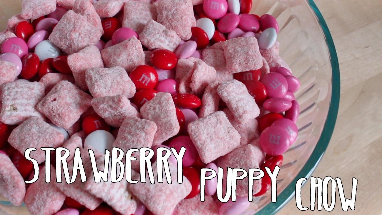 Recipe Valentineu0027s Day | Strawberry Puppy Chow