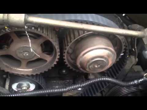 Timing belt change easy mark alignment fool proof installation - YouTube