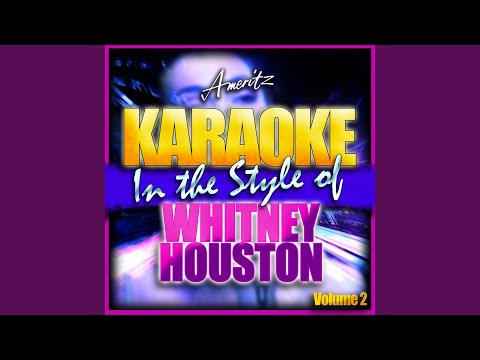 I Look To You (In The Style Of Whitney Houston) (Karaoke Version)