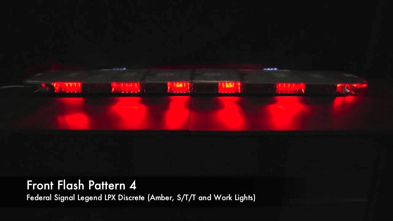 Federal Signal Legend Lpx Wiring Diagram Trusted Whelen Power Supply Lpxd Lightbar Flash Patterns Youtube