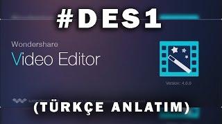 Wondershare editör DERS:1 (türkçe anlatım)