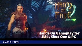 Hand Of Fate 2 Hands On Gameplay (PS4, Xbox One & PC)