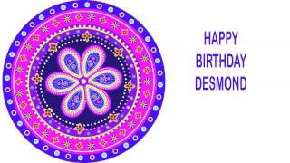 Desmond   Indian Designs - Happy Birthday