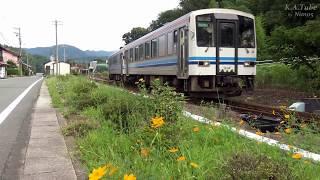 鉄道のある風景 JR三江線 倒木により大遅延の一日 (10-Sep-2017)