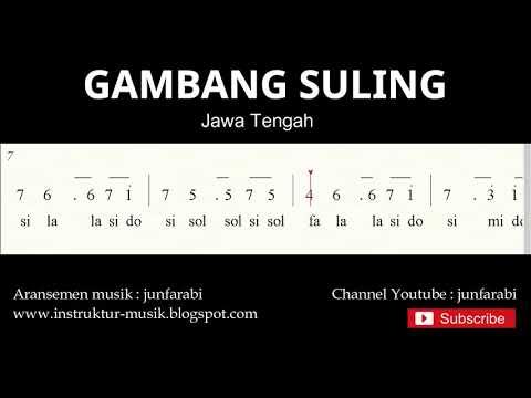 Not Angka Gambang Suling - Lagu Daerah Tradisional Nusantara Indonesia - Doremifasolasido