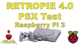 Retropie 4.0 PSX Test Raspberry pi 3 PlayStation One