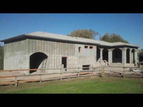 Spider Tie Cellular Concrete House