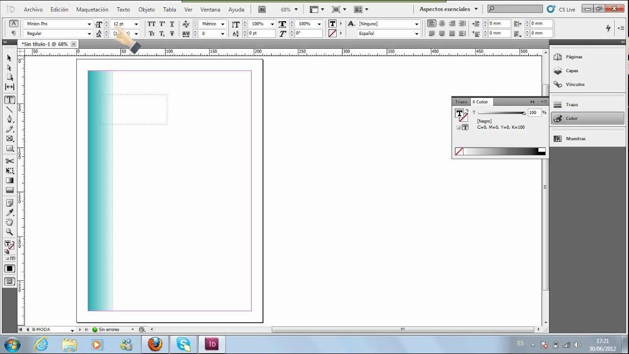 Como crear una pagina maestra en Adobe InDesign - YouTube