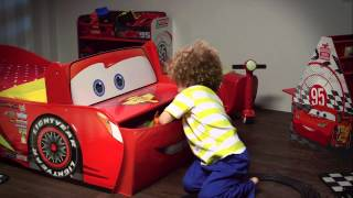 Disney Cars 'lightning Mcqueen' Feature Toddler Bed With Storage