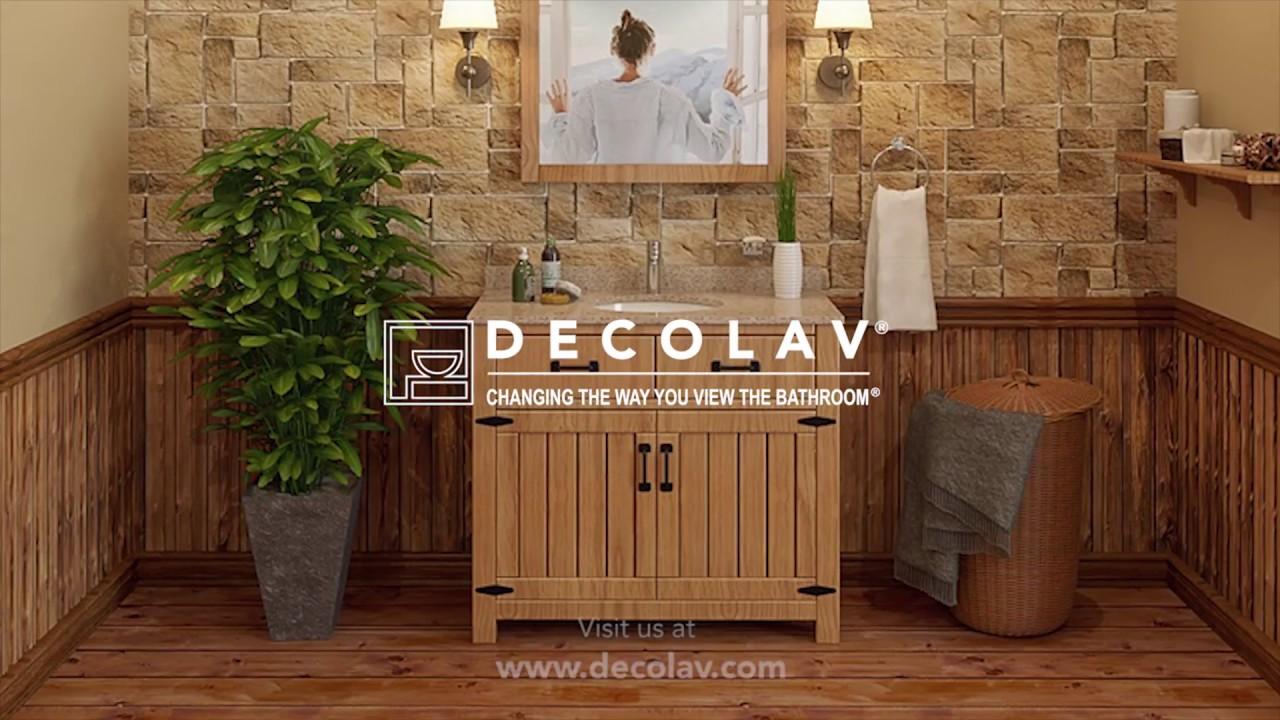Decolav 24 Bathroom Vanity the countryside bathroom vanitydecolav - youtube