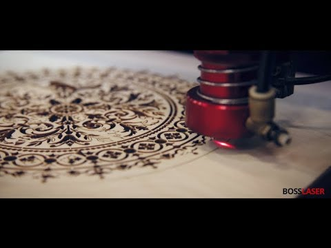 CO2 Laser Cut Wood Stencil for Craft or Decor  - BOSS Laser